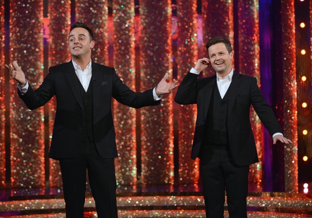 Ant & DecÕs Saturday Night Takeaway is an ITV Studios production for ITV ANT & DEC'S SATURDAY NIGHT TAKEAWAY on Saturday 22 February 2014 Picture shows: Ant & Dec Award winning hosts Ant & Dec are back with their hugely popular entertainment series Ant & DecÕs Saturday Night Takeaway. The only series on TV that says ÔDonÕt just watch the ads Ð win them!Õ returns to the our screens with a host of brand new stunts, surprises and shocks for the studio audience and viewers at home. ÔAÕ list superstars will also be joining the fun live in the studio, but not even the biggest stars are safe as the Geordie duo lead some of their most ambitious celebrity set-ups. This series sees Ant & Dec attempt their most difficult Undercover to date, tricking close friend and fellow TV host Holly Willoughby. Whilst This MorningÕs Eamonn Holmes and Ruth Langford take Ant & DecÕs lead in a brand new IÕm A Celebrity Get OutÉof Me Ear! Ashley Roberts will be back to challenge the pair to the ultimate duel in Ant V Dec, and whilst Little Ant and Dec may have already rubbed shoulders with Gerard Butler, Mila Kunis and Bruce Forsyth, this series will see them spring more cheeky questions on their new celebrity chums. One lucky member of the studio audience will also be given the chance to play for the contents of a commercial break in Win the Ads, with spectacular prizes including cars and holidays on offer. Each show will end in spectacular style as some of the world's biggest and best performers grace the Takeaway stage for a one-off performance that will come with its own unique surprise - you won't want to miss them! Last series saw Ant & Dec scale a 50ft tower, trick the worldÕs biggest boyband One Direction with their Undercover guises, join Spelbound for a special one off performance and top the UK charts with ÔLets Get Ready To RumbleÕ. Press contact: Sarah Banbury on 0207 157 3018 sarah.banbury@itv.com Picture contact: Shane Chapman on 020 7157 3043